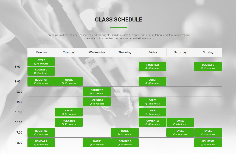 SW Schedule