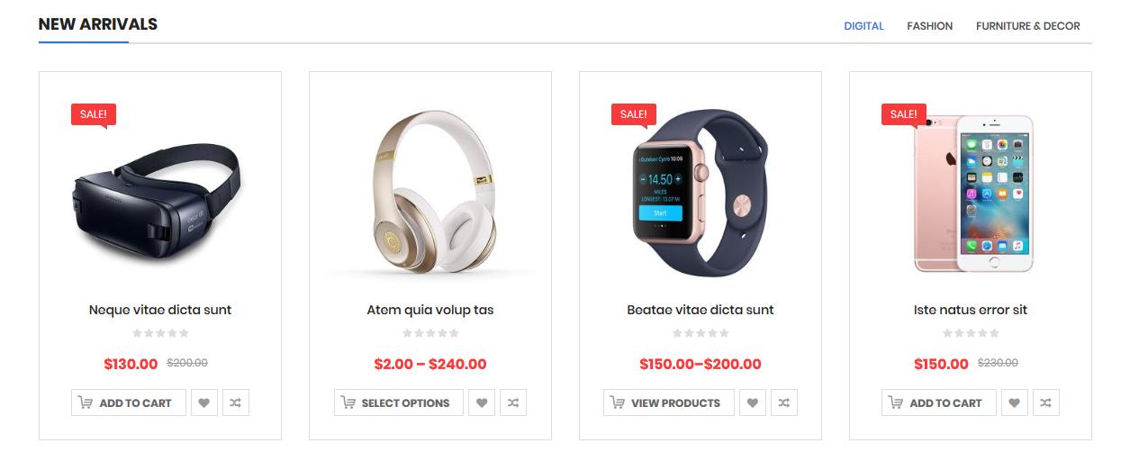 SW WooCommerce Tab Category Slider