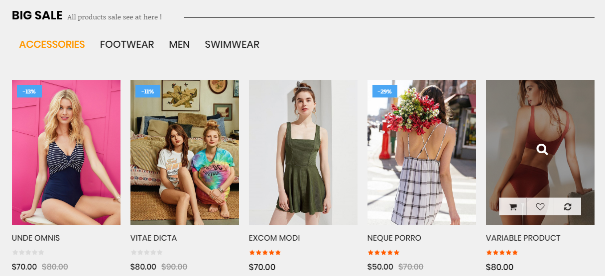 SW WooCommerce Tab Category Slider