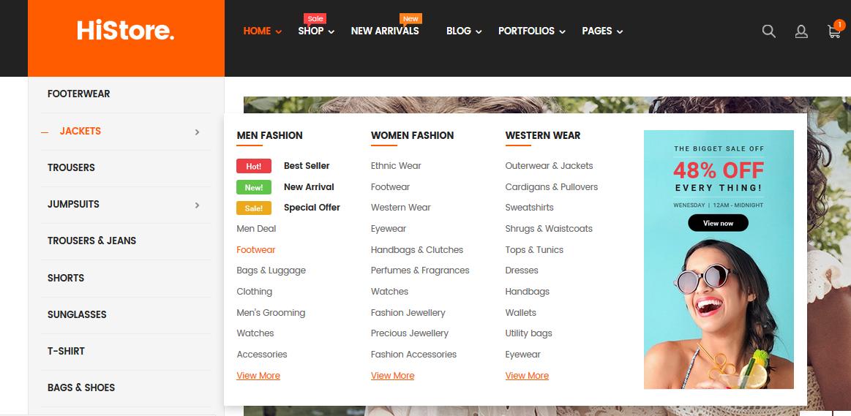 menu configuration