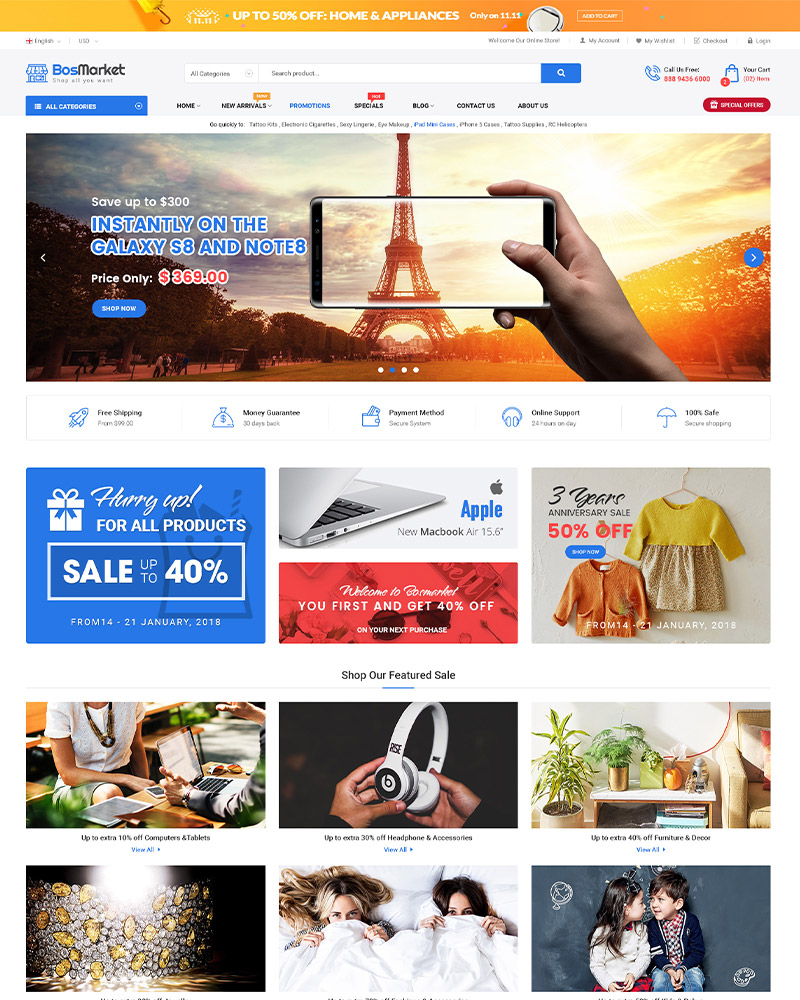 BosMarket - Multi Vendor MarketPlace WooCommerce WordPress Theme