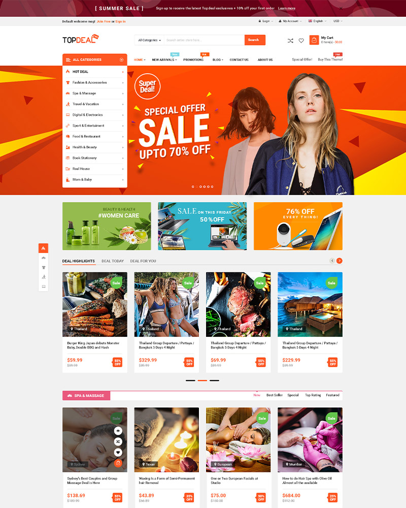 TopDeal - Trending Multi Vendor WordPress Theme