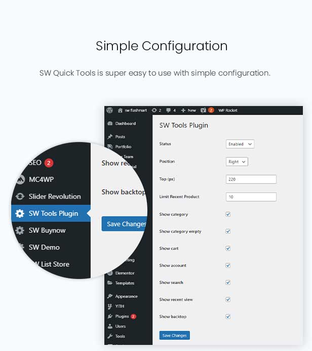 SW Quick Tools - Quick View Popup WooCommerce WordPress Plugin