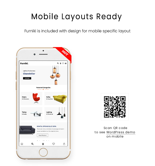 Mobile Layout of Furniki - Furniture Store & Interior Design PSD Template (Mobile Layout Ready)