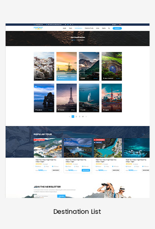 Creative Travel Booking HTML Template - PortKey