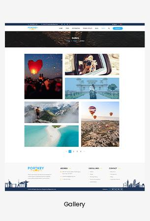 Creative Travel Booking PSD Template - PortKey
