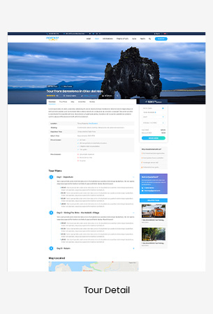 Creative Travel Booking PSD Template - PortKey