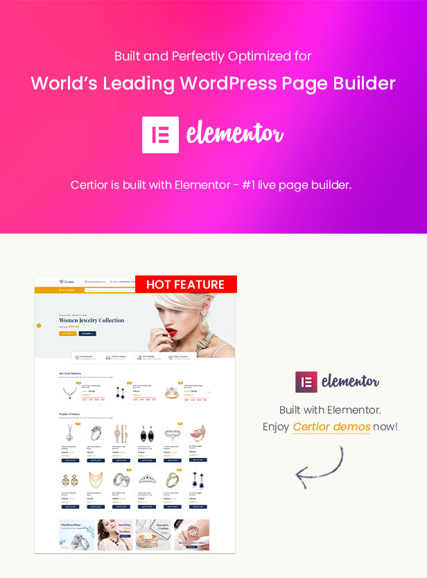 Certior - Jewelry Store Elementor WooCommerce WordPress Themee - Elementor Ready