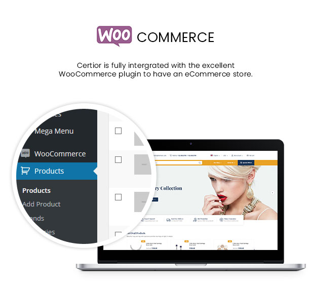Certior - Jewelry Store Elementor WooCommerce WordPress Themee - WooCommerce Intergration