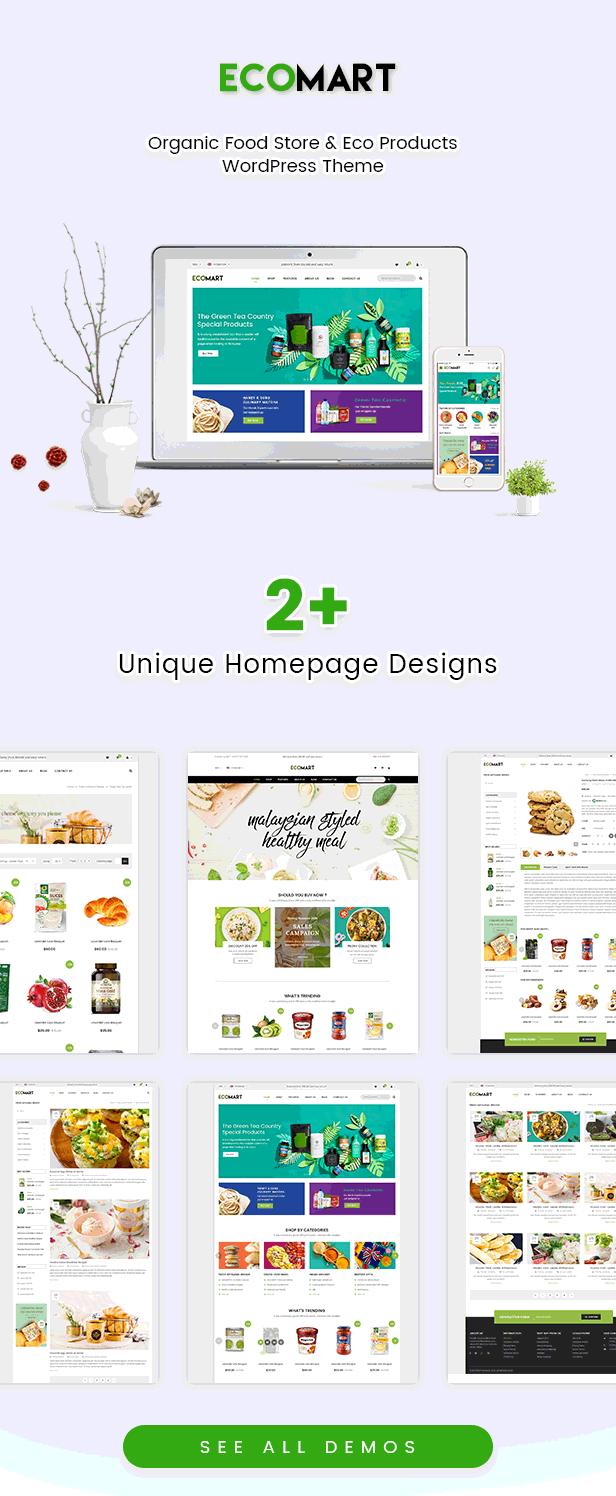 EcoMart - Organic Food Store & Eco Products WordPress Theme