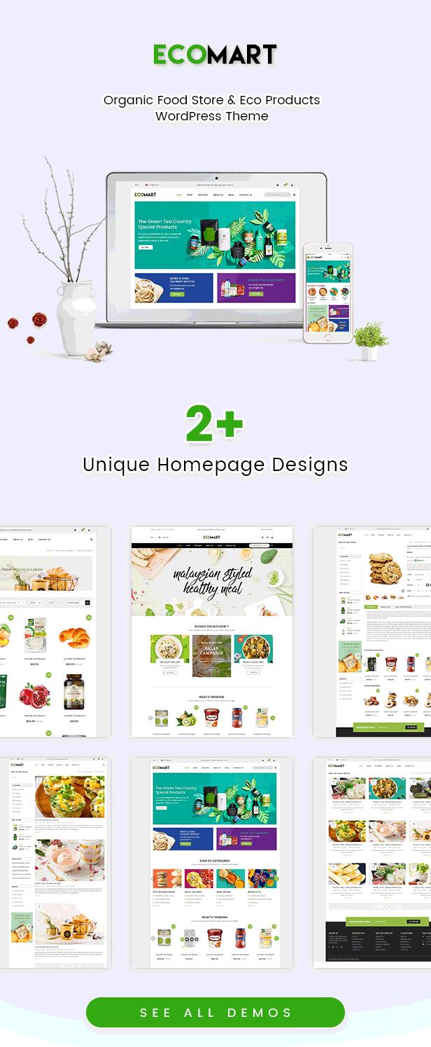 EcoMart - Organic Food Store & Eco Products WordPress Theme