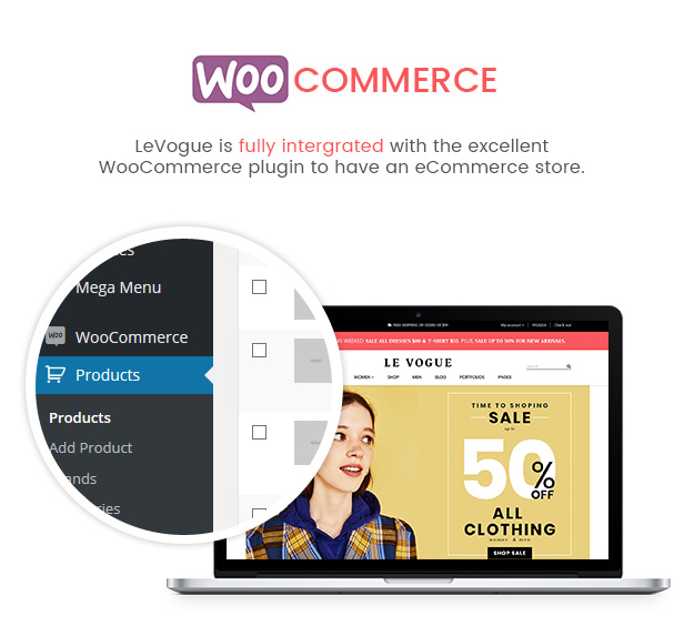 SW LeVogue - WooCommerce Theme