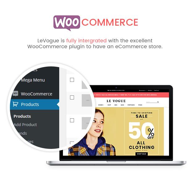 SW LeVogue - WooCommerce Theme