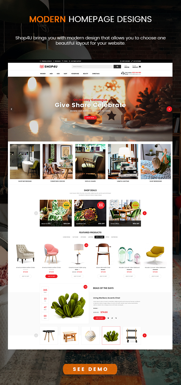 SW shop4u - WooCommerce Theme