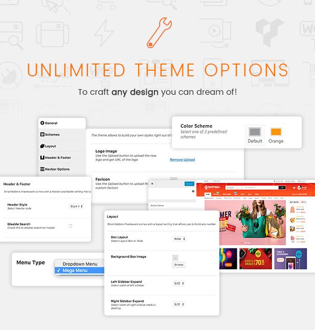 ShopyMall marketplace wordpress theme - theme options
