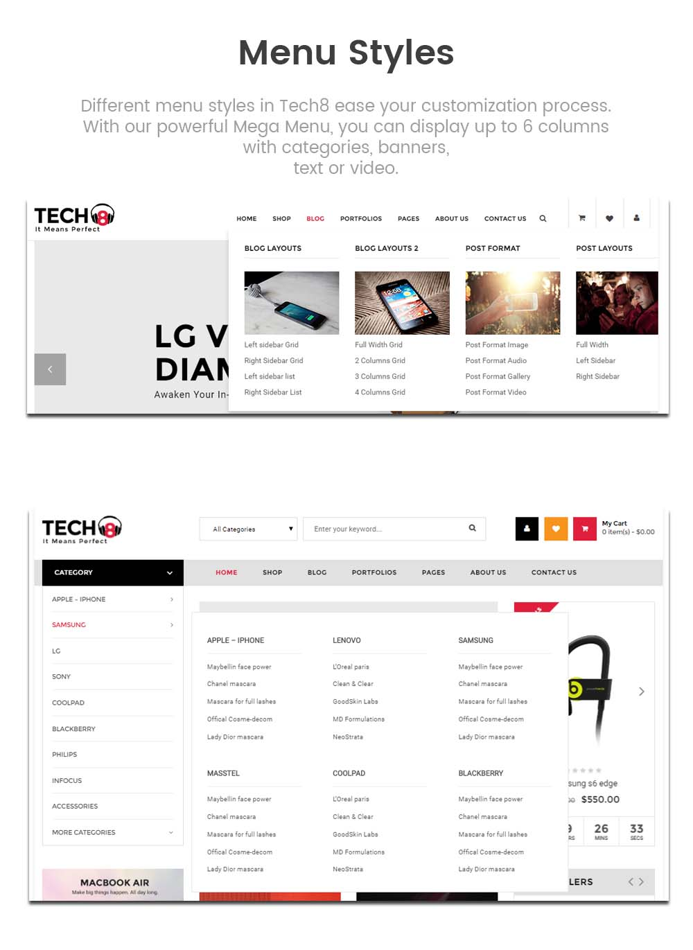 SW Tech8 - WooCommerce Theme