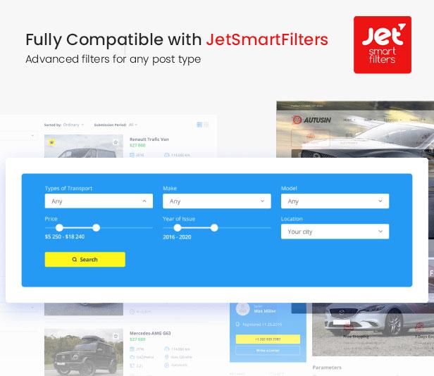 JetSmartFilters Ready in Autusin - Auto Parts Shop, Moto Store WooCommerce WordPress Theme