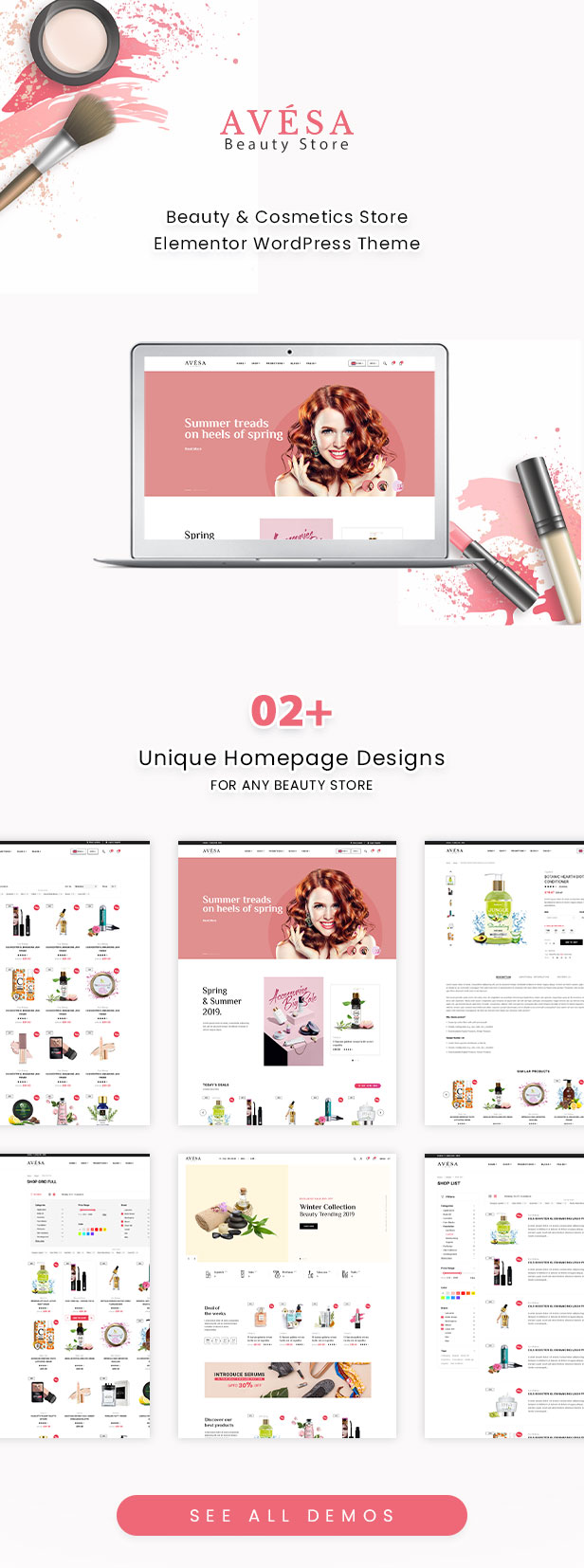 Avesa -  Beauty Store WooCommerce WordPress Theme - WooCommerce Theme