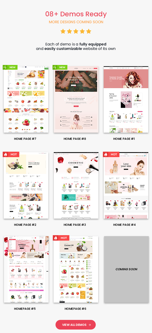 Avesa - Beauty Store WooCommerce WordPress Theme - Mobile layout