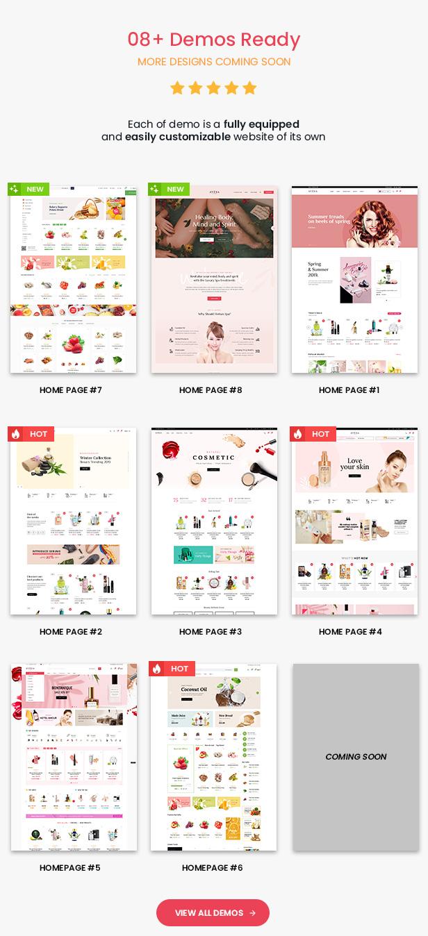 Avesa - Beauty Store WooCommerce WordPress Theme - Mobile layout