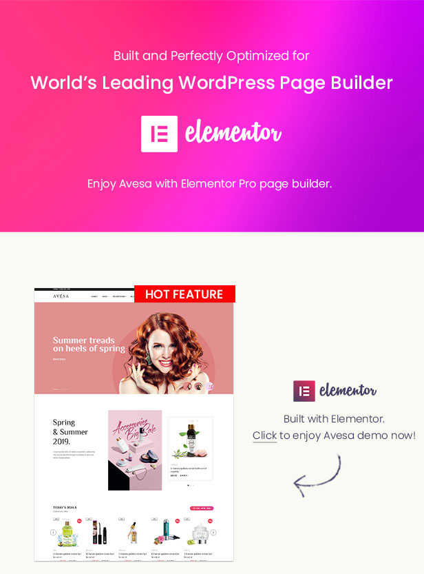 Avesa -  Beauty Store WooCommerce WordPress Theme- Elementor Page Builder