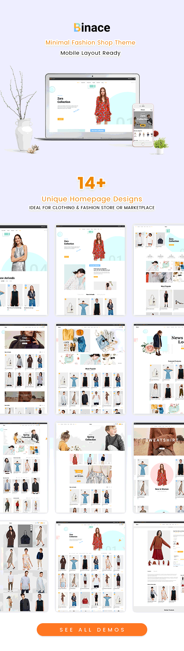 SW Binace - WooCommerce Theme