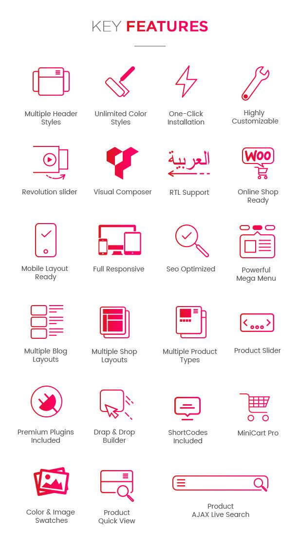 WordPress Theme - Key Features