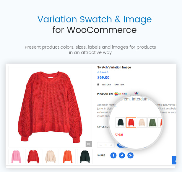 WooCommerce Product Color & Image Swatches