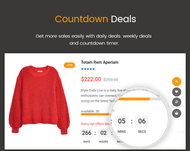 WooCommerce product countdown