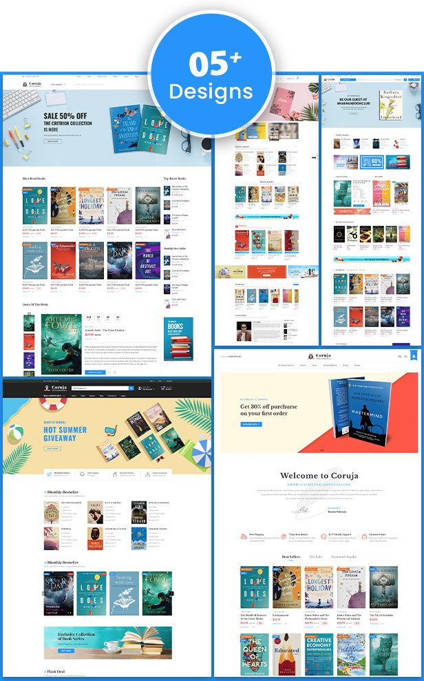 Book Store WordPress WooCommerce Theme - Coruja