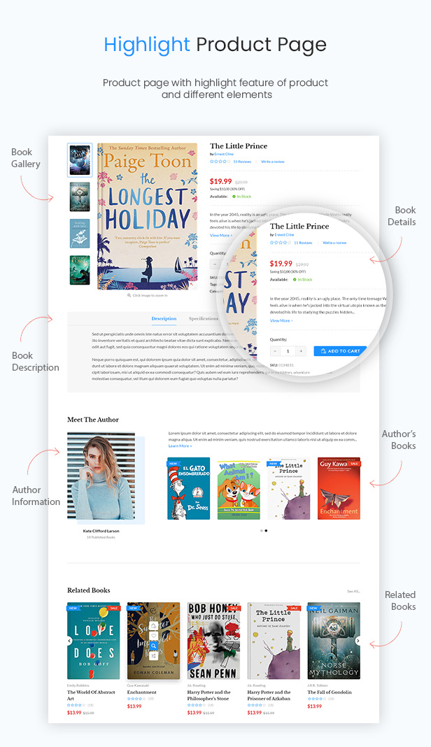 Book Store WordPress WooCommerce Theme - Coruja