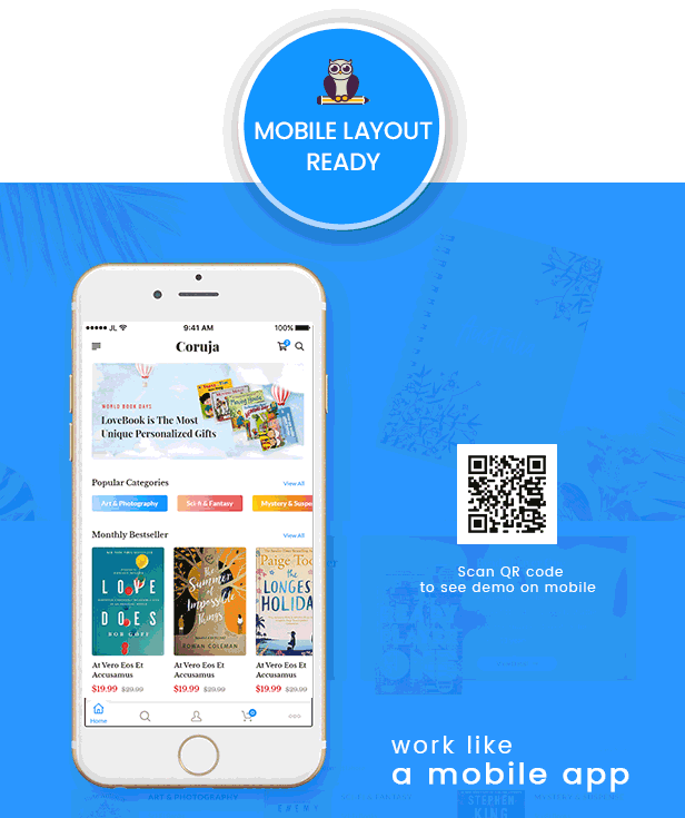 Coruja - Book Store & Publisher WordPress Theme