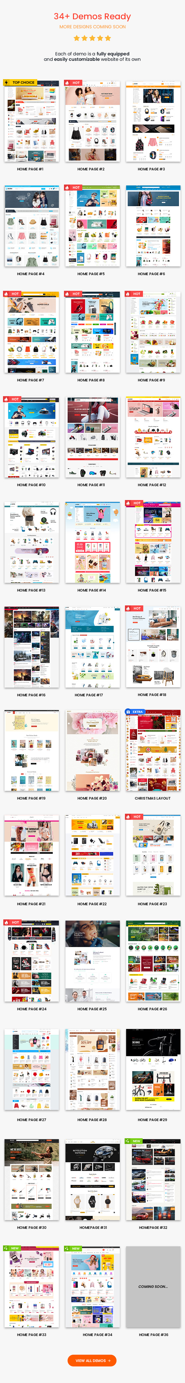 Homepages of Market Theme Best Multipurpose WooCommerce Theme