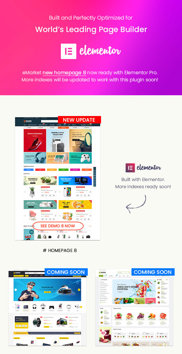 eMarket - Multi Vendor MarketPlace WordPress Theme - Elementor