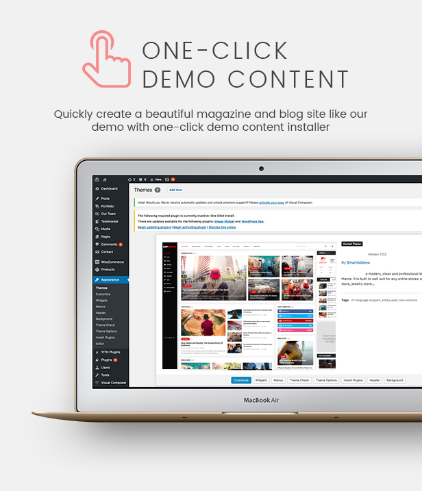 ExpNews One Click Demo Import – Newspaper and Magazine WordPress Theme