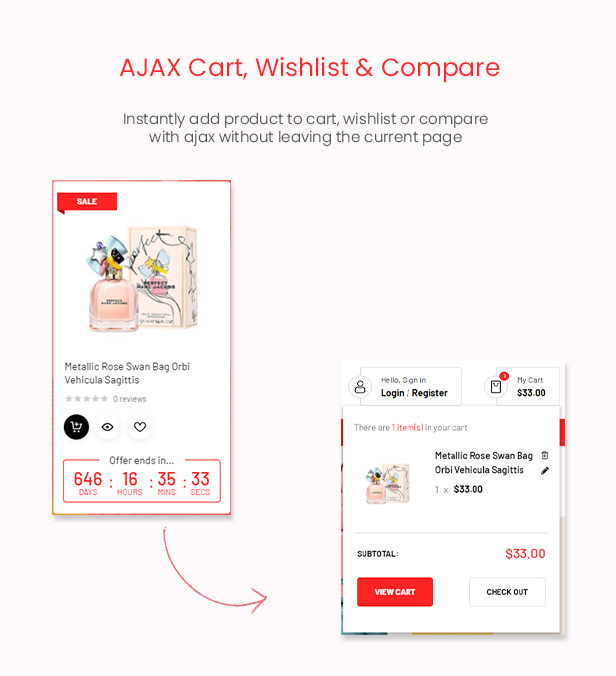 FlashMart - Multipurpose Elementor WooCommerce WordPress Theme - Ajax Cart