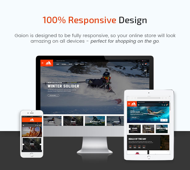 Gaion - Sport Accessories Shop WordPress WooCommerce Theme