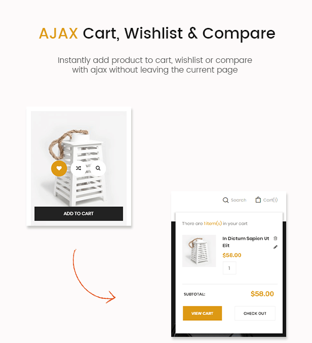 houskit ajax cart- interior furniture store wordpress theme