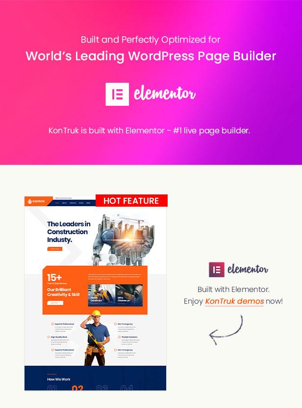 KonTruk - Construction & Building Elementor WordPress Theme - Elementor