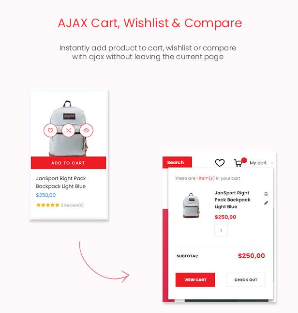 Mallon - Multipurpose Elementor WooCommerce WordPress Theme - Ajax Cart