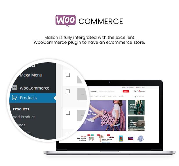 Mallon - Multipurpose Elementor WooCommerce WordPress Theme - WooCommerce Intergration
