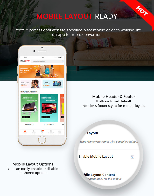 Maxshop - Responsive Elementor WooCommerce WordPress Theme - Mobile Layout