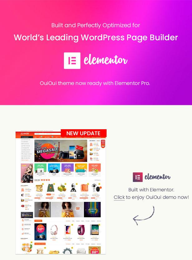 OuiOui- Multi Vendor MarketPlace WordPress Theme - Elementor