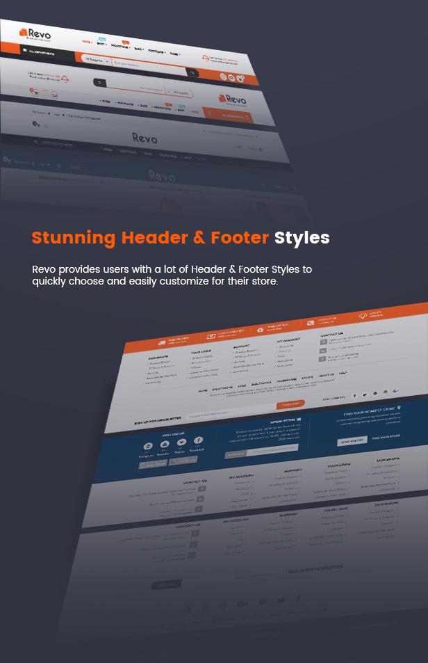 Footer & Header Styles
