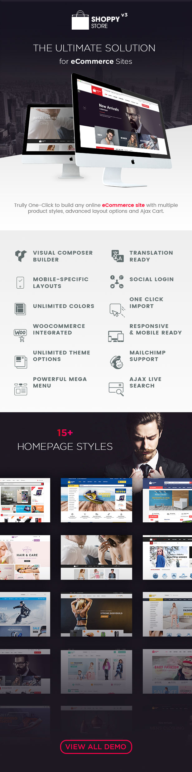 ShoppyStore - Multipurpose Responsive WooCommerce WordPress Theme (15+ Homepages & 3 Mobile Layouts) Download