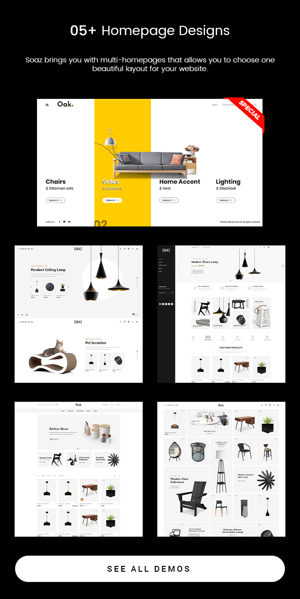 Soaz - Furniture Store & Interior Design WordPress Theme