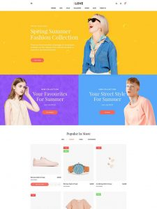 iLove - Creative Fashion Shop WordPress WooCommerce Theme