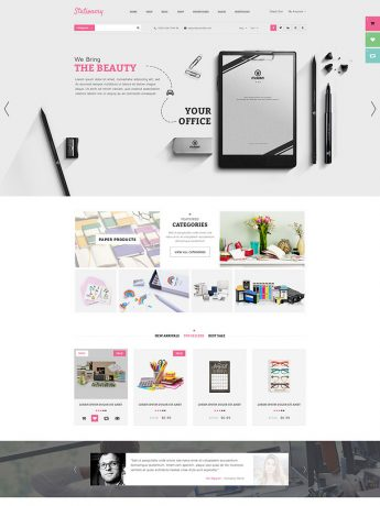 Stationery-WordPress Theme