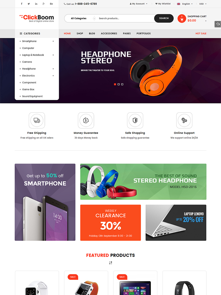 clickboom digital store wordpress theme
