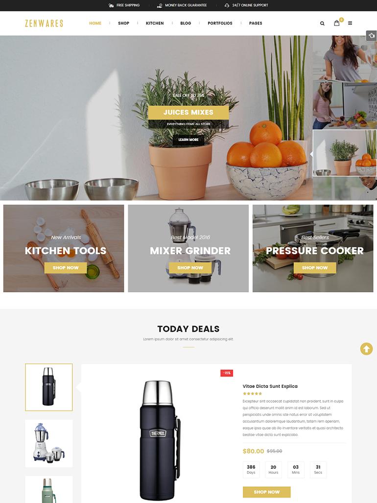 Zenwares - Kitchen Interior & Appliances WooCommerce WordPress Theme